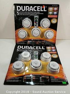 (2) 5-Packs of Duracell LED Puck Lights