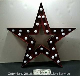 Metal Battery Operated Lighted Star Decor