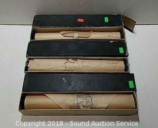 (3) Vtg. Player Piano Word Rolls