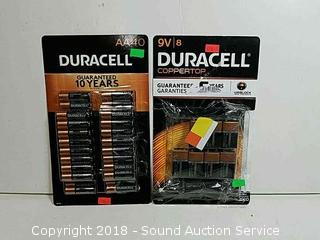 (40) Duracell AA & (7)  9V Batteries.