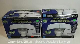 Pair of LED 240 Degree Security Lights