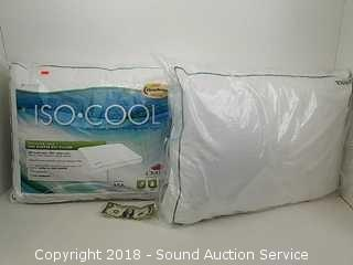(2) NIP Carpenter Iso-Cool Side Sleeper Pillows