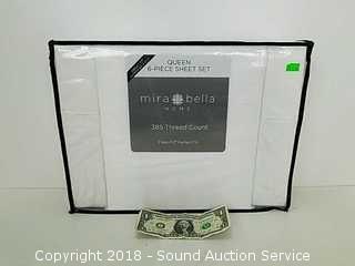 Mira Bella 385TC Queen 6pc. Sheet Set