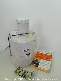 Jack Lalanne Model CL003AP Power Juicer w/Book