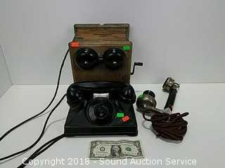 Antique Northern Electric Wall Mount Telephone