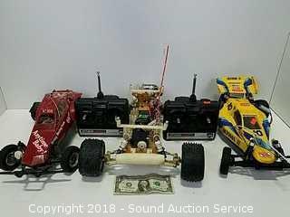 Kyosho, Traxxas & Tamiya RC Cars w/Remotes