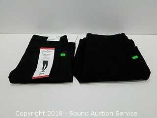 (2) Pairs of Women's Black Skinny Jeans - Size 8