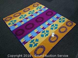 Nice Colorful Abstract Wool Blanket