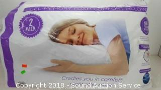 Gel Cloud Memory Foam Comfort Pillows - 2 Pack