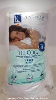 LC Platinum Tri-Cool memory Fiber Pillows - King 2 Pack