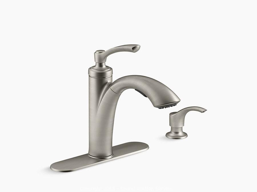 Kohler Pull Out Kitchen Faucet W/Soap Dispenser. U2039u203a