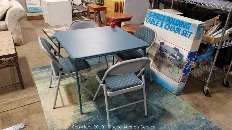 f479f348fc0 Sound Auction Service - Auction  011719 Restaurant Equipment   Estate  Auction ITEM  Meco 5pc. Folding Table   Chairs Set